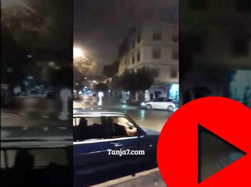أحياء طنجة تغرق في مياه الأمطار