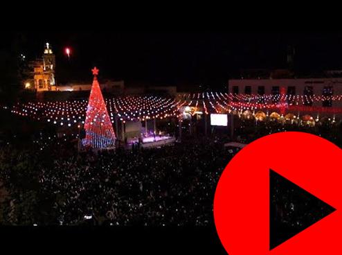 إضاءة شجرة الميلاد في فلسطين