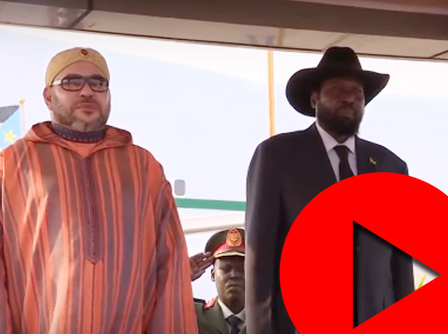 الملك يصل إلى جنوب السودان