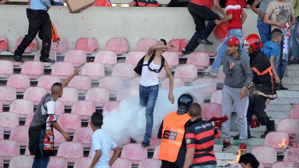 عنف وشغب في ملاعب المغرب