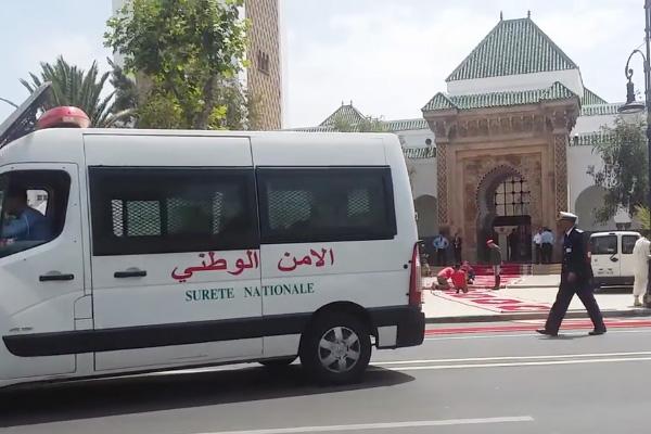 مسجد محمد الخامس قبل قليل من وصول الملك