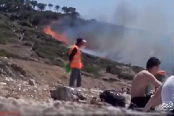 حريق بغابة المريسات