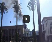 حريق البرلمان المغربي
