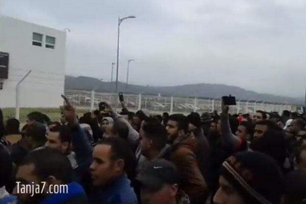 مظاهرة عمال مصنع رونو