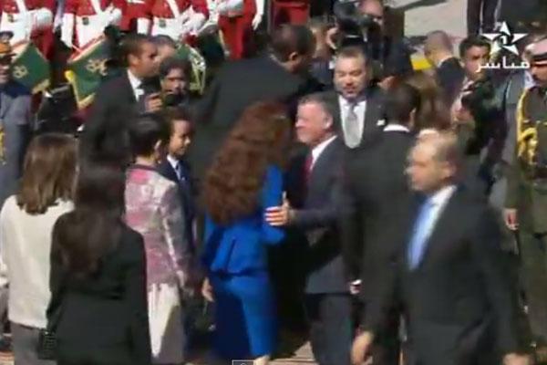 استقبال رسمي لملك الأردن