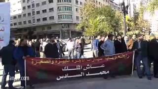 احتجاج أرباب سيارات الأجرة بطنجة
