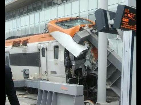 حادث قطار الدار البيضاء